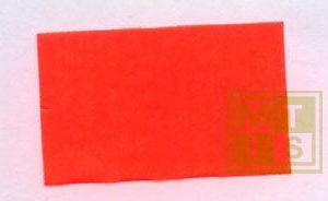 Etiket (permanent) 26x16 (per 36rollen.) Fluor Rood