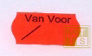 Etiket 2612 fl.rood perm