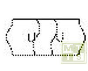 Etiket TK6 Zekerheid (permanent) 26x12 Wit (per 54.000st.)