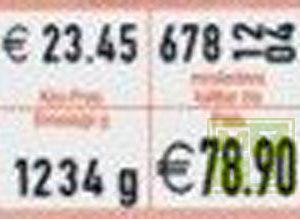 Etiket (semi-permanent) 26x16 (per 1.000st.)