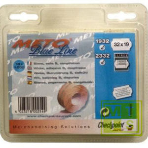 Etiket BlueLine 2-liner: Fluor oranje