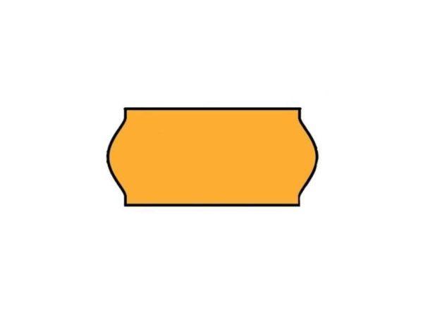Etiket (permanent) 26x12 Fluor Oranje (per 54.000st.)